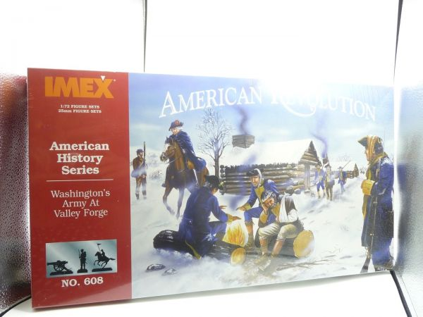 IMEX 1:72 Großpackung Am. History Series; Am. Revolution Washington's Army
