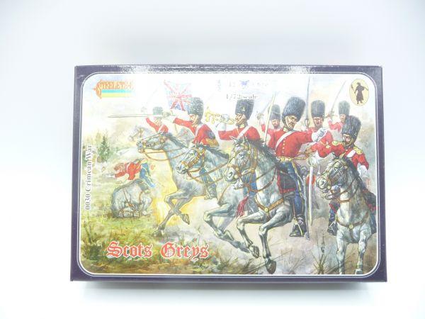 Strelets*R 1:72 Crimean Scots Grey, Nr. 0030 - OVP, Figuren am Guss, Box Top