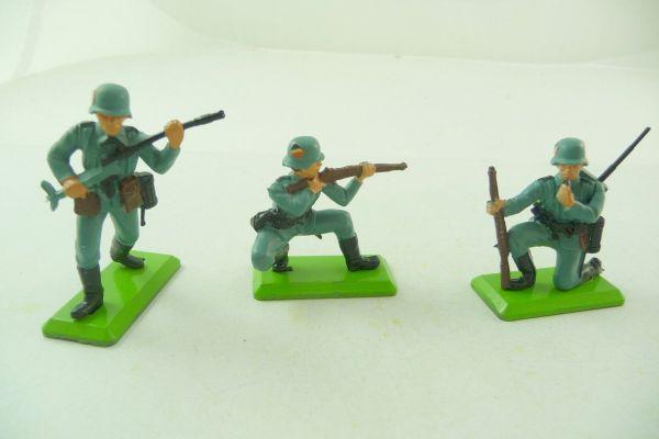 Britains Deetail 3 verschiedene deutsche Soldaten 2. Version - ladenneu