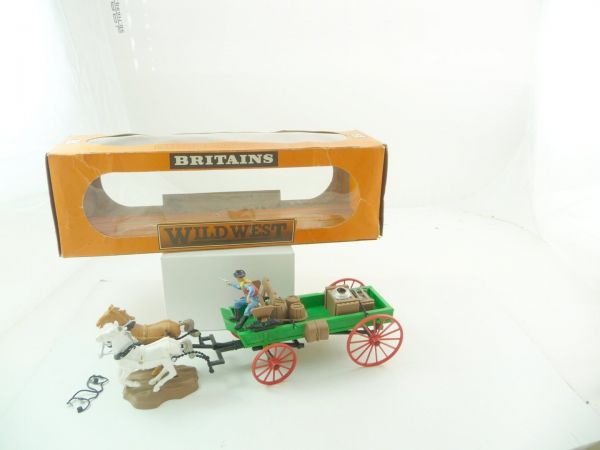Britains Flat wagon / buckboard, No. 7617 - orig. packing, rare blister box