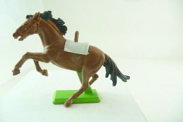 Britains Deetail Horse brown, reared up (white blanket) - rare colour, light-brown