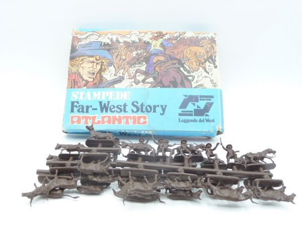 Atlantic 1:72 Far West Story, Stampede, No. 1113, 38 parts - on cast