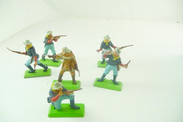 Britains Deetail 7th Cavalry, nice set of 6 figures, including General Custer
