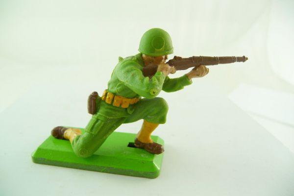 Britains Deetail American 1. version kneeling firing