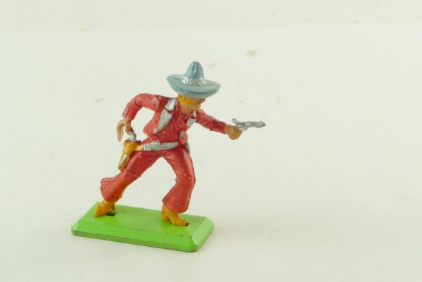 Britains Deetail Mexican, red/light-blue, going ahead with pistol