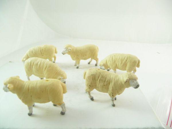 Britains 6 sheep, white
