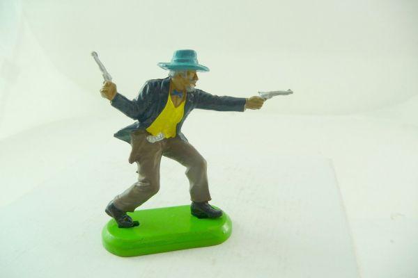 Britains Deetail Cowboy stehend, 2 Pistolen wild schießend (made in China)