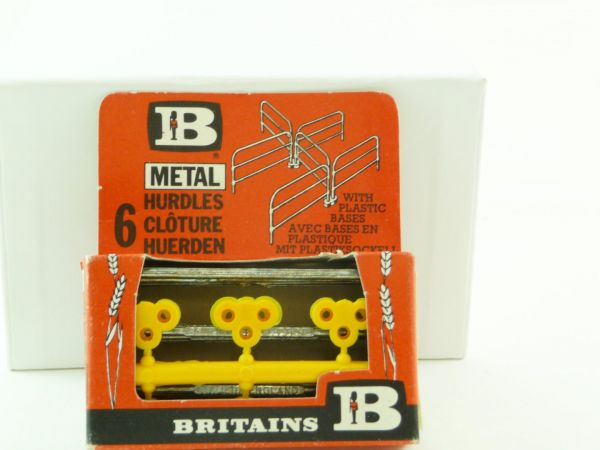 "Britains Farm Series ""6 Metal Hurdles"", No. 1728 - orig. packing, unused"