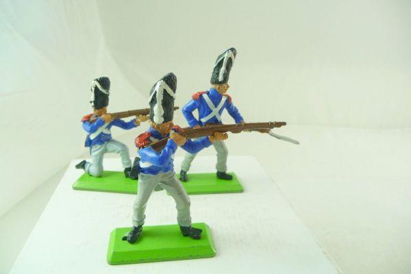 Britains Deetail Waterloo; Franzosen, 3 Soldaten in unterschiedlichen Haltungen