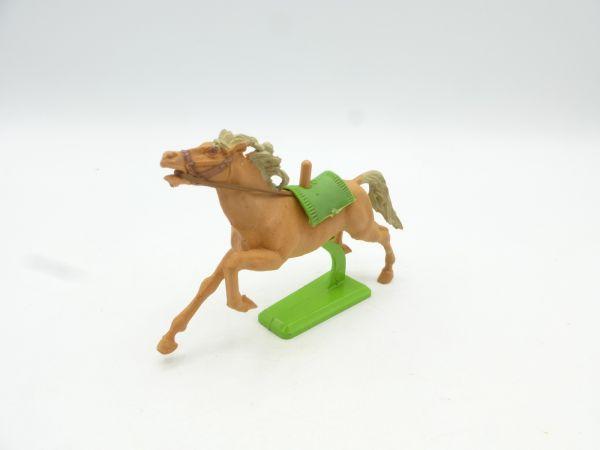Britains Deetail Horse galloping, light brown (green blanket)