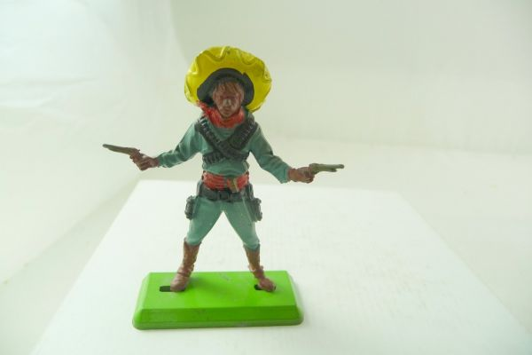 Britains Deetail Mexican standing with 2 pistols, petrol-blue - extremely rare
