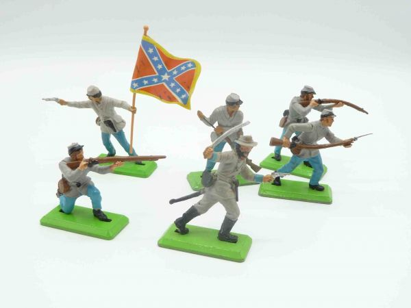 Britains Deetail Nice set of Confederate Army soldiers ( 6 figures )