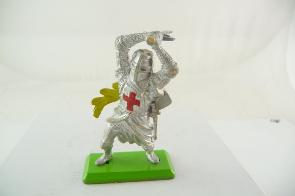 Britains Deetail Knight standing, striking with sword ambidextrous over head