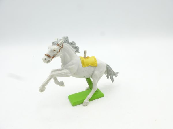 Britains Deetail White horse rearing, white/grey (yellow blanket) - rare