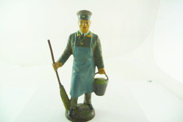 Lineol composition Zookeeper with bucket + broom, 9 cm - very good condition