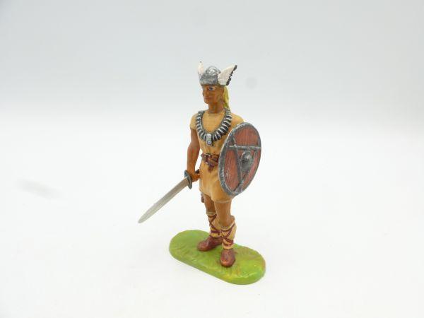 Umbau 7 cm Wikinger Chief mit Schwert + Schild