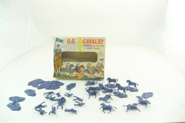 Airfix 1:72 US-Cavalry - old box, figures loose, complete, box good condition