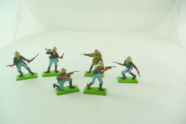 Britains Deetail 7. Cavalry soldiers, complete set incl. General Custer