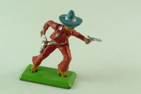 Britains Deetail Mexican going ahead with 2 pistols, red, light-blue hat