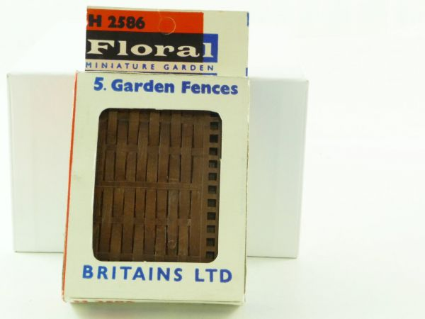 "Britains Floral Miniature Garden ""5 Garden Fences"", No. 2586 - orig. packing"