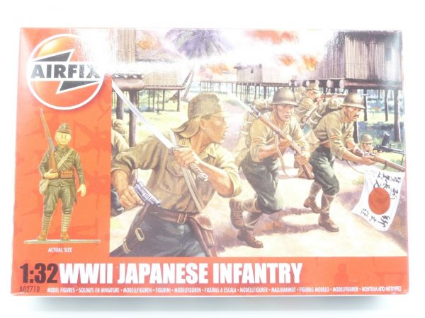 Airfix 1:32 WW II Japanese Infantry, No. A02710 - orig. packaging, box sealed