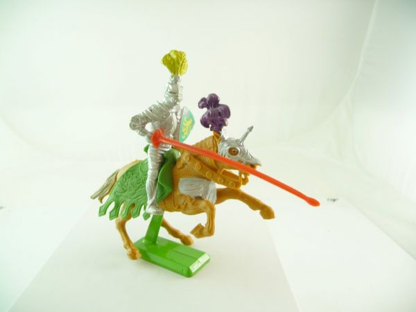 Britains Deetail Knight 1st version riding with lance