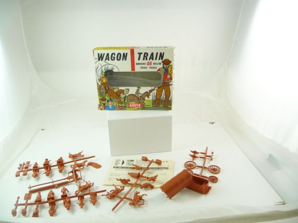 Airfix 1:72 Wagon Train - in old box, figures complete + on cast