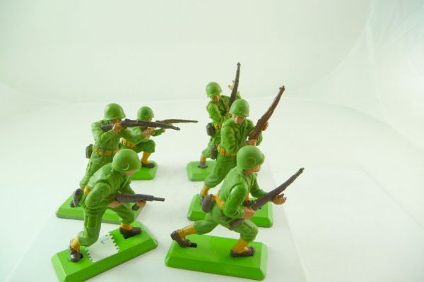 Britains Deetail 6 American soldiers 1st version in different positions
