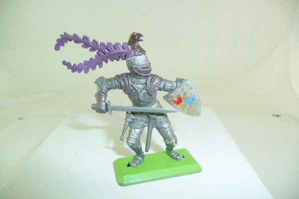 Britains Deetail Knight attacking with sword - great colour