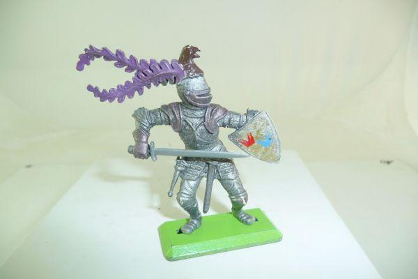 Britains Deetail Ritter mit Schwert angreifend - tolle Farbe