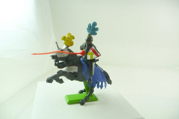 Britains Deetail Black knight on horseback with lance