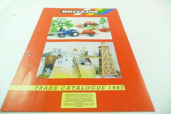 Britains Big retailer catalogue 1987, 23-page colourful illustrated catalogue