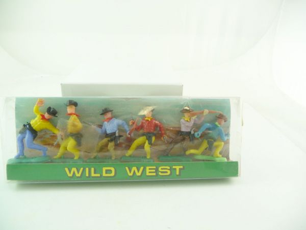 6 kämpfende Cowboys - in Blisterbox