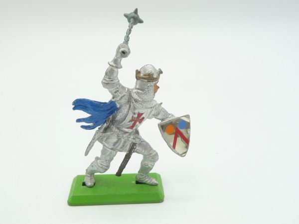Britains Deetail Knight 1st version standing, striking with flail from above