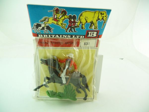 Britains Cowboy riding with bag + pistol (bank robber), No. 631 - orig. packing