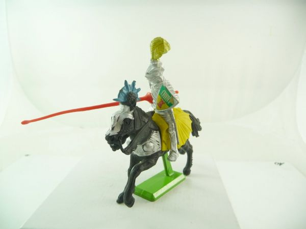 Britains Deetail Knight riding with lance, red
