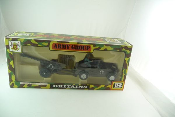 Britains Deetail Army Group - Kübelwagen + German Field Gun Nr. 9788
