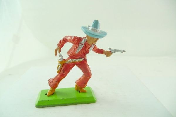 Britains Deetail Mexican going ahead, firing with pistol - nice light-red