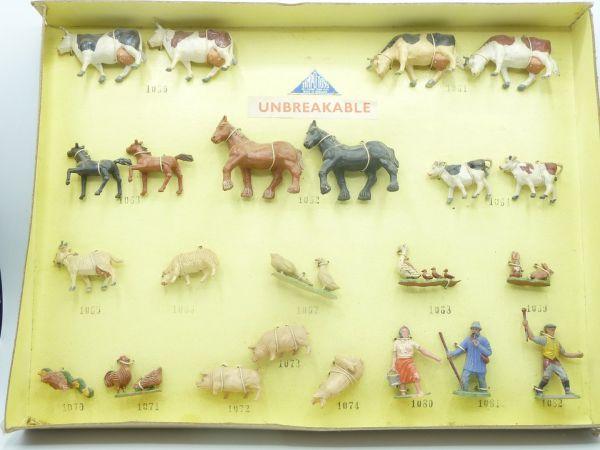 Timpo Toys Bauernhofbox mit 23 Figuren - seltene Altbox