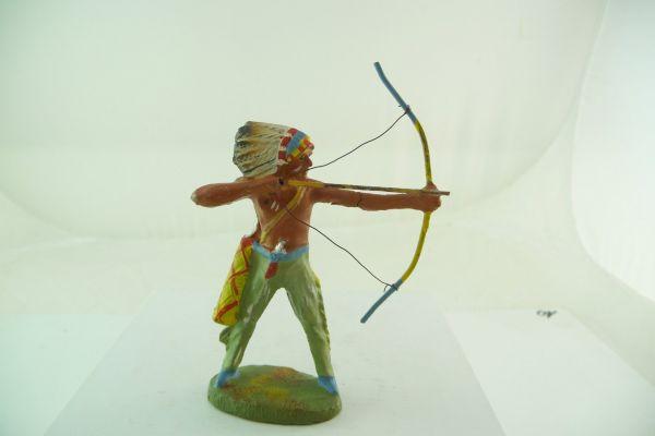 Elastolin Masse Indianer, Bogen schießend - sehr schöne Bemalung