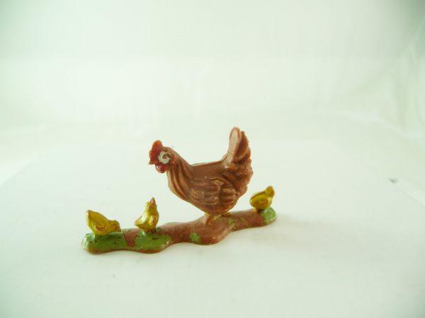 Britains Braunes Huhn mit Küken - ganz frühe Version
