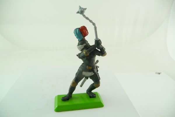 Britains Deetail Knight black, holding battleaxe ambidextrous