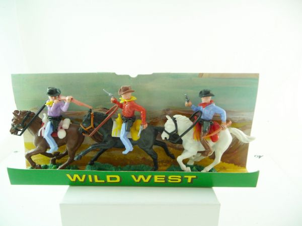 3 reitende Cowboys - auf Display, aus Ladenfund