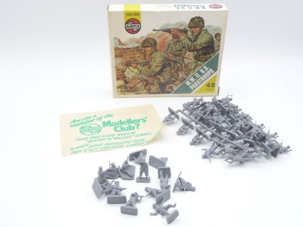 Airfix 1:72 WW II US-Paratroops, No. 01751-4 - figures partly on cast, complete