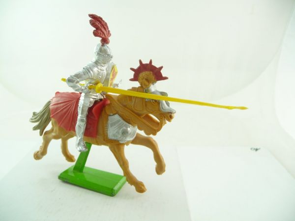 Britains Deetail Knight riding with lance, yellow