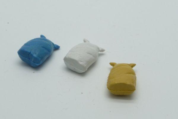 3 Gepäcksäcke (ähnlich Timpo Toys) in extrem seltenen Farben