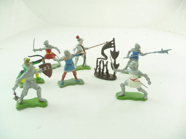 Britains Deetail Complete set of knights + tournament accessories - see photos