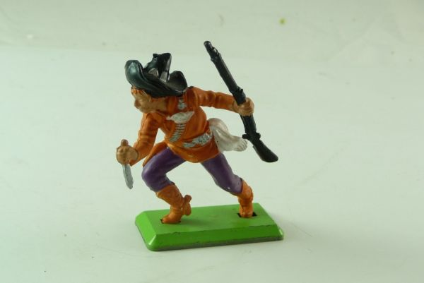 Britains Deetail Mexican standing, orange with knife and rifle