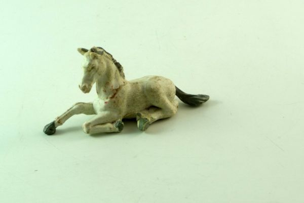 Britains Foal lying, white, No. 2121