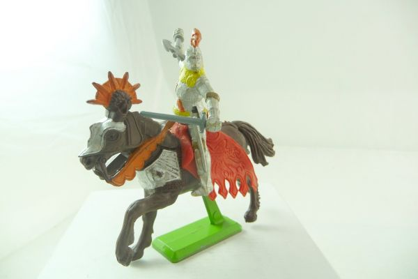 Britains Deetail Knight riding with battleaxe + sword, two-part